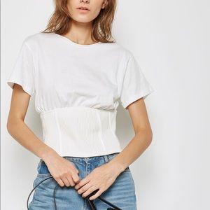 Topshop Corset T Shirt, Sz 8 (M), NWOT!